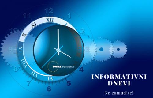 Informativni dnevi v Mariboru, Ljubljani in online