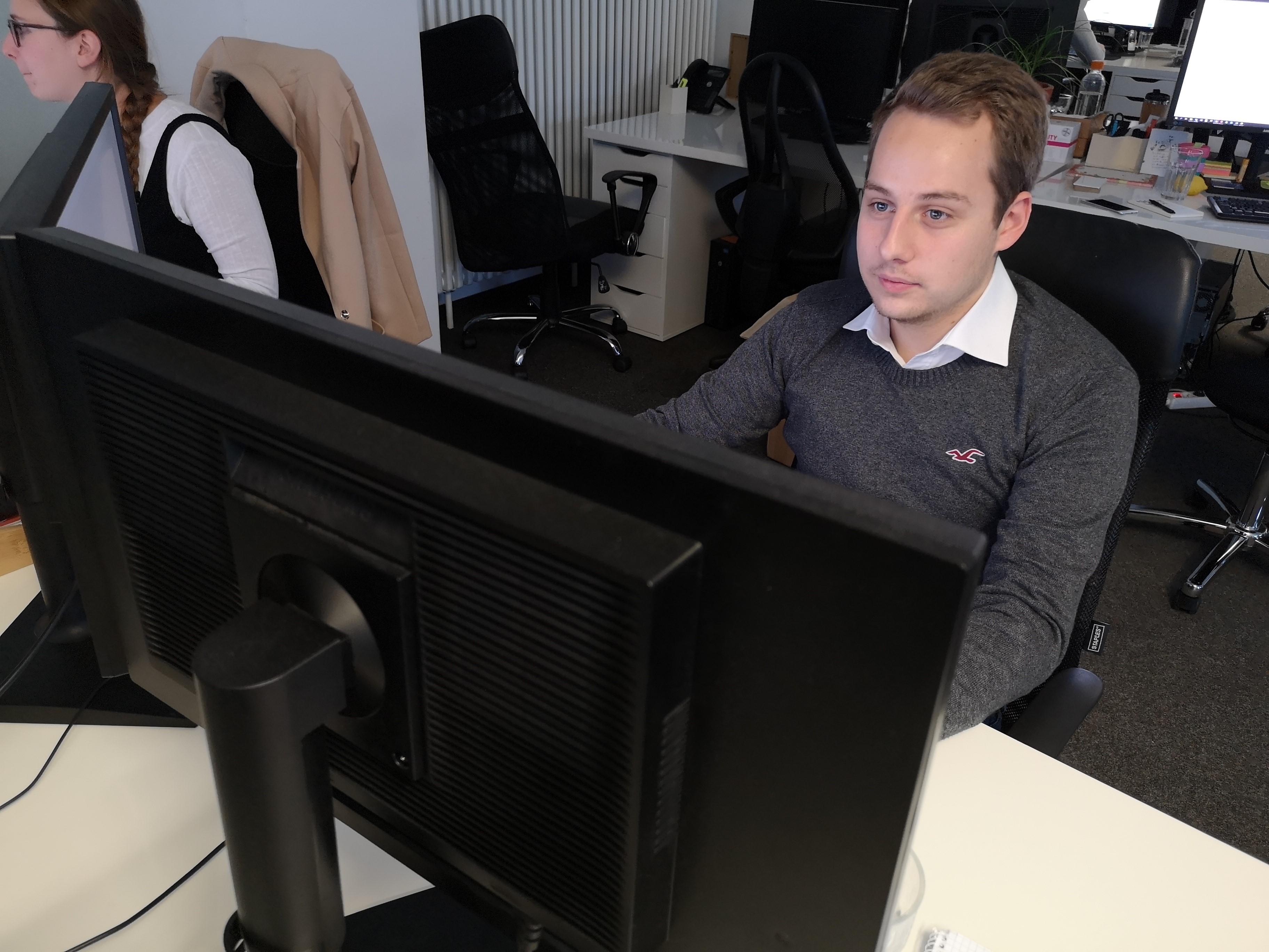 Tom Šfiligoj, študent programa Marketing, družbeni mediji in odnosi z javnostmi