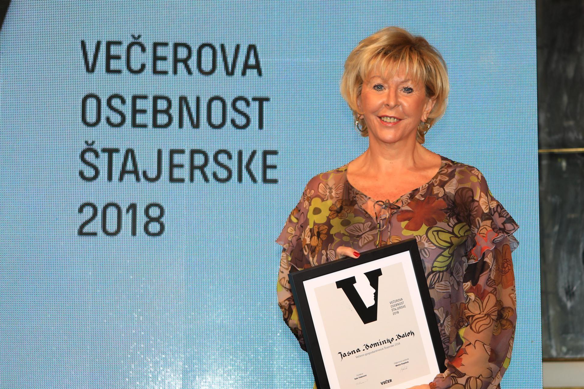 Direktorica DOBE Večerova gospodarstvenica Štajerske 2018